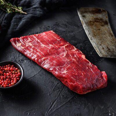 Bavette steak met een mooie vet dooradering