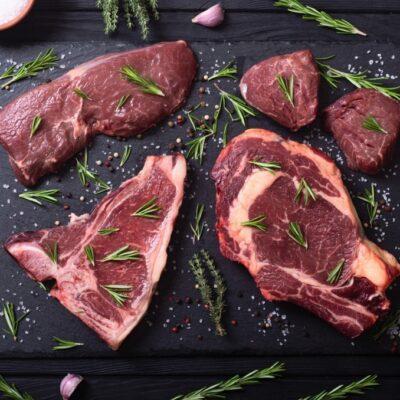Grillmaster special vleespakket, steaks van grasgevoerd natuurrund