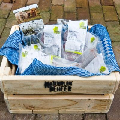 sloophouten kistje verpakking van uw bestelling
