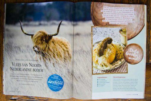 Duits Broodje Worst een recept uit Landleven Magazine met het Biologische Vlees van Natuurlijk Beheer