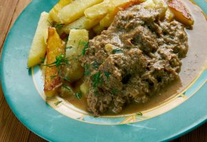 Recept Vlaams Stoofvlees van Biologisch Natuurvlees met Belgisch bier en frites