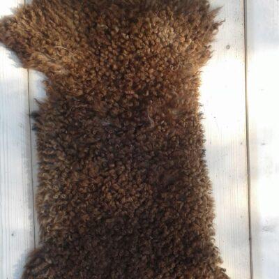 105x45 warm bruine schapenvacht