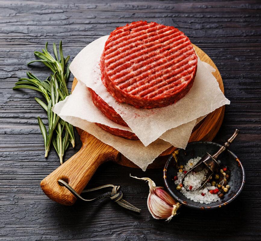 Mini beefburgers van Angus en Hooglander, 2 stuks a 100 gram
