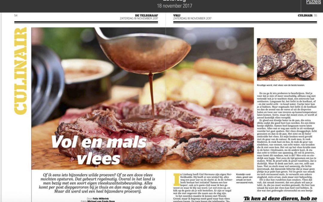 Felix Wilbrink Culinair journalist Telegraaf enthousiast over Biologisch Natuurvlees