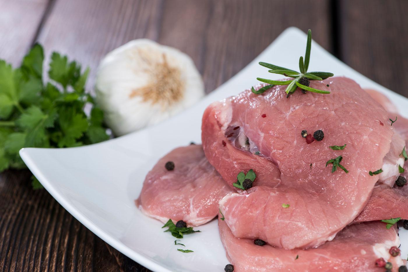 schnitzel van biologische scharrelvarkens