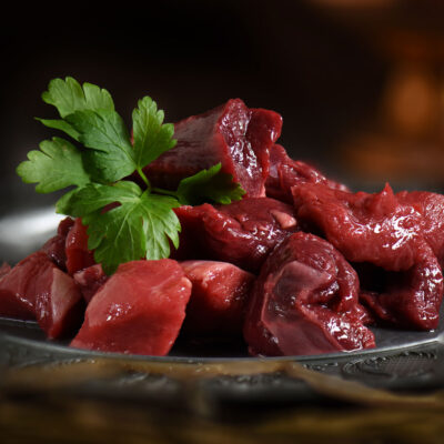 Hertenvlees, herten poulet, Wild vlees van Veluws hert