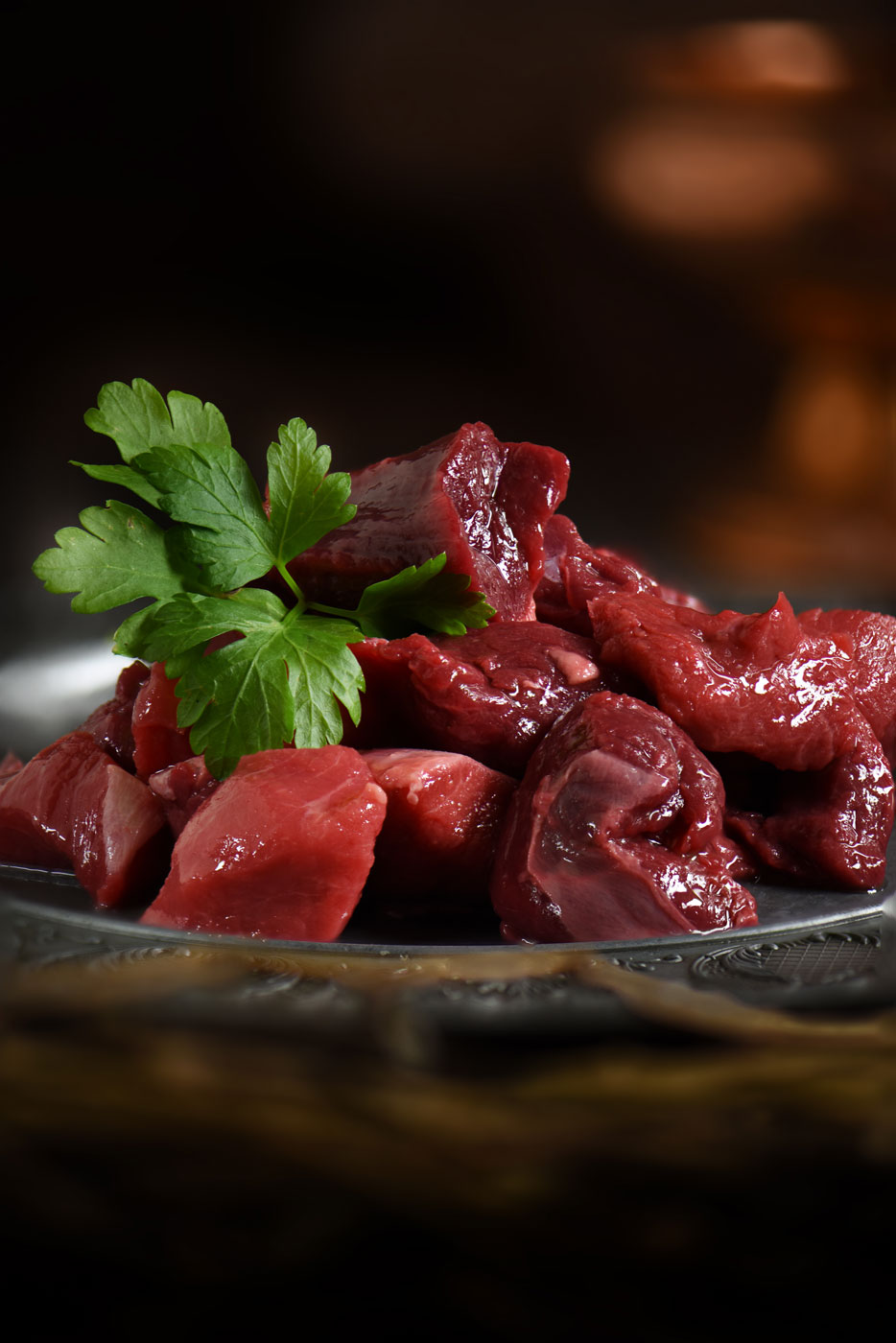 Herten poulet, Wild vlees van Veluws hert