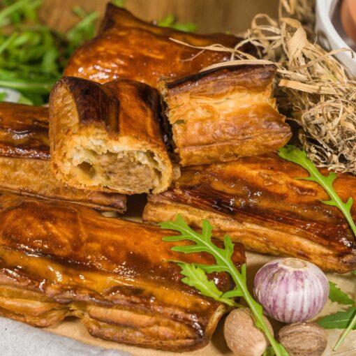 Saucijzenbroodjes, 5 stuks met biologisch rundvlees van Angus rund