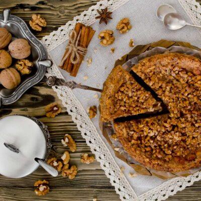 Betuwse Walnoten-karamel taart