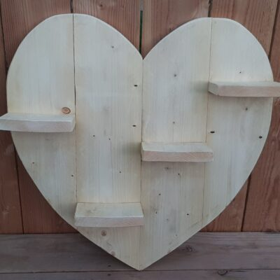 display in de vorm van een hart