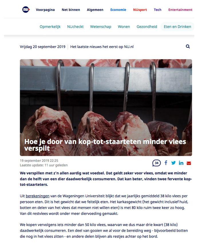 van kop tot staart eten op nu.nl