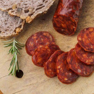 Biologische Chorizo worst van scharrelvarken