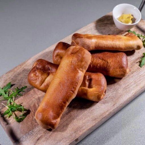 Natuurvlees worstenbroodjes met vlees van Biologisch rund, echte Drentse worstenbroodjes