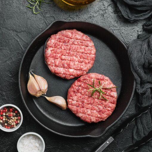 Wildburgers van Veluws hert en wild zwijn, 2 stuks