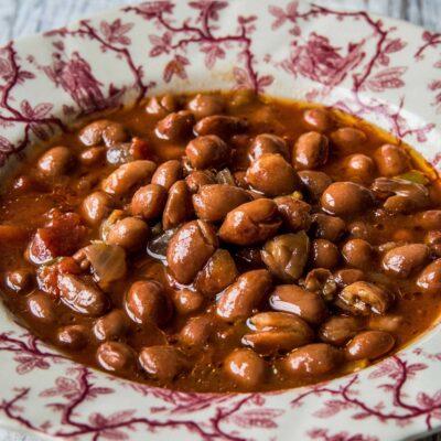 Bartjes bruine bonen soep van grasgevoerd rund