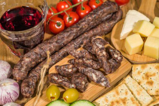 borrel-salamiworstjes van biologisch rund