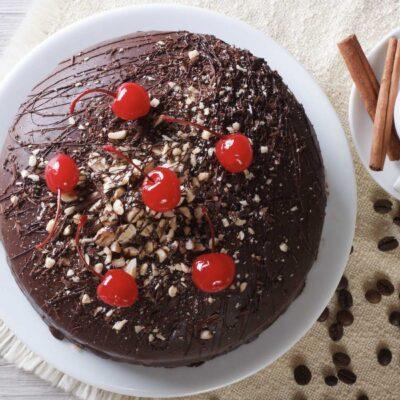 chocolade kersentaart, ambachtelijk gemaakt bij Zorgnatuur.nl