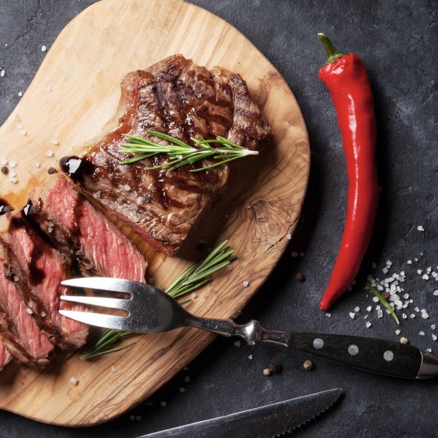 Recept Flat iron steak met een rub van koffie, cacao & chili