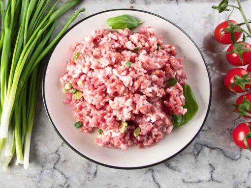 250 gr varkensgehakt zonder toevoegingen, met een heerlijke volle vleessmaak