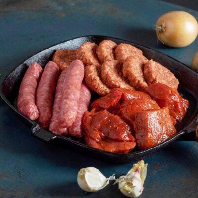Gourmetschotel, luxe vleeshapjes voor 5 personen