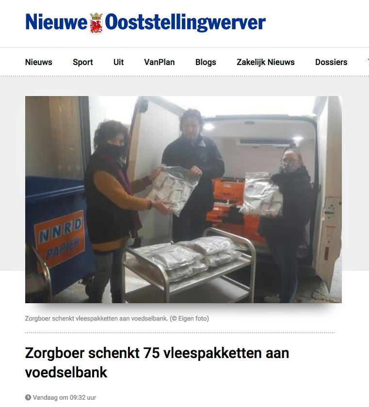 Schenking-van-75-pakketten-aan-voedselbank door Zorgnatuur.nl