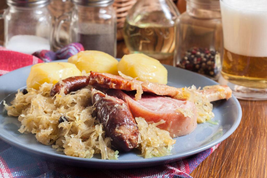 recept zuurkoolstamppot met zuurkoolspek