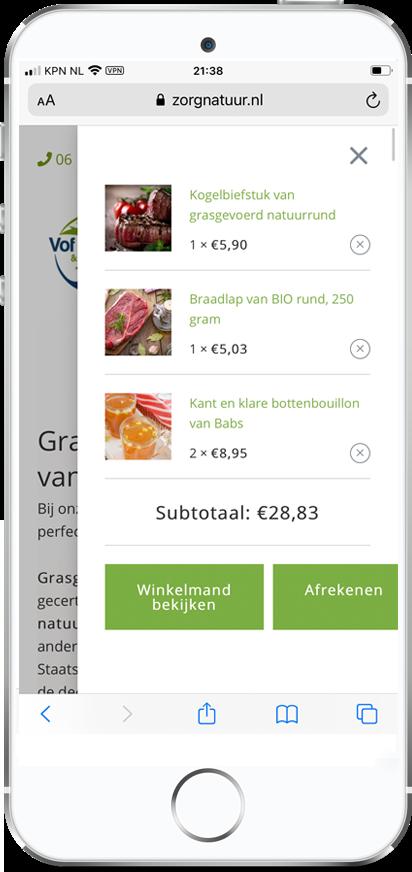 Voordelen account bij ZorgNatuur.nl