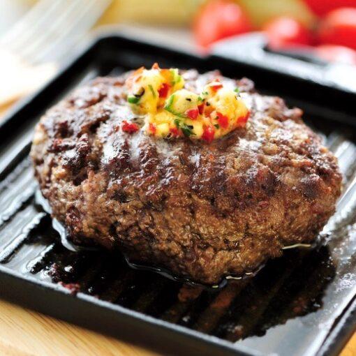 Exmoor beefburger gourmet, oven bbq of braden