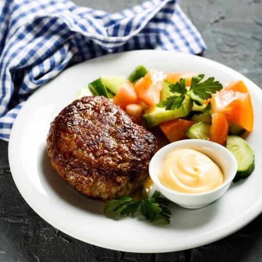 Exmoor beefburger
