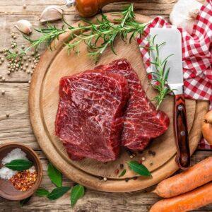 Exmoor biefstuk van de haas gemarmerd vlees