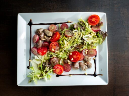 kippenhart met salade